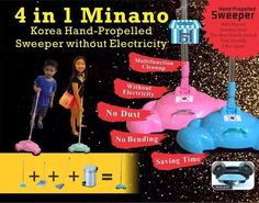 ⥤🎀Daddy's House🎀⥢ Introduction of 4 IN 1 MINANO KOREA HAND-PROPELLED SWEEPER
