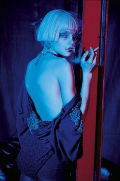Jessica Stam by Peter Lindbergh for Vogue Italia April 2007.