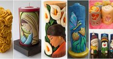 Aprende la técnica para hacer tallado de velas decorativas Candels, Pillar Candles, Diy Crafts, Canning, Home Decor, Candle Making, Handmade Candles, Filing Cabinets, Beautiful Candles