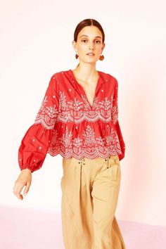 Lucie Blouse - Scarlet