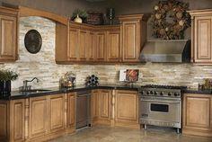 Kitchen Backsplash with Natural Stone