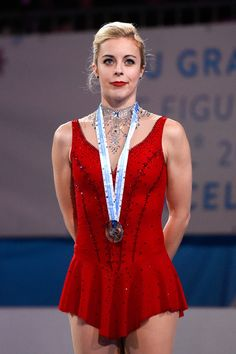 Ashley Wagner Photos Photos - (L-R) Ashley Wagner of the United States poses for…