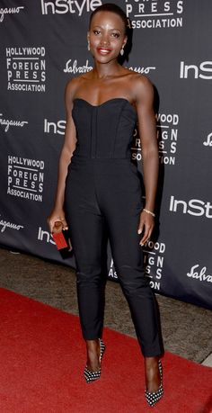 lupita nyong'o I want to wear this and rock it like her. Awesome style.