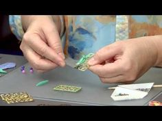 Filling Filigree with Polymer Clay - YouTube