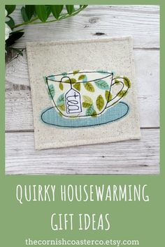 **IN STOCK** Leafy fabric tea coasters, a practical gift idea for the tea drinker! Tea Coaster, Fabric Coasters, Childrens Gifts, Practical Gifts, Coordinating Fabrics, Handmade Items, Handmade Gifts, Pet Gifts, Color Themes