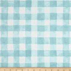 Michael Miller Sommer Painted Gingham Robins Egg Fabric