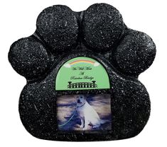 Rainbow Bridge Black Paw Print Pet Memorial Indoor Faux Stone Urn for Dog or Cat Ashes with Photo Window and Sentiment by Imprints Plus 1007 blkmgrn *** Continue to the product at the image link. (This is an affiliate link)