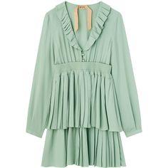 ドレス ❤ liked on Polyvore featuring dresses, green color dress and green dress