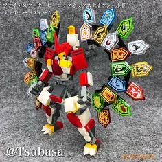 ファイアスターターピーコック(孔雀)ネックスナイツシールドコンプリートフォーム #BMAvengers #LEGO #レゴロボ