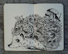 #232 Flower Hedgehog by 365-DaysOfDoodles on deviantART