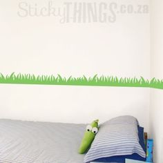 Our Grass Wall Decal measures x and comes in forest green or lime. Add it to our tree decals or even sports stickers & get 8 dragonflies for free! Wall Stickers, Wall Decals, Wall Art, Next Bedroom, Tree Decals, Grass, Home Decor, Wall Clings, Decoration Home