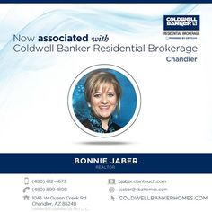 Please help us welcome Bonnie Jaber to Coldwell Banker Residential Brokerage and the Powered by Zip team! Congratulations on your recent association Bonnie. #ColdwellBankerArizona