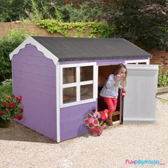 A children's playhouse is the perfect gift. From the traditional wendy house to two-storey playhouses, our range is ideal for your child. Garden Playhouse, Playhouse Outdoor, Sports Activities For Kids, Childrens Playhouse, Garlic Red Potatoes, Wendy House, Roofing Felt, Cajun Chicken Pasta, Rolled Sugar Cookies