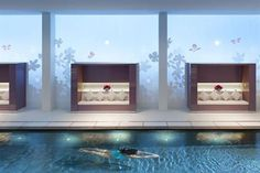 Hotels & Resorts, Beautiful Luxurious Mandarin Oriental Paris Hotel Interior Design In French: Wooden Couch With White Sofa Lather Near Swimming Pool Paris Hotels, Hotel Paris, Paris Paris, Mandarin Oriental, Luxury Rooms, Luxury Spa, Modern Luxury, Luxury Hotels, Hotel Pool