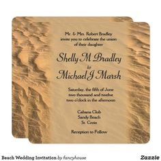 Beach Wedding Invitation #halfprice #destinationwedding