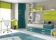 ¿Necesitas una #habitación #juvenil? Nosotros las tenemos de todos los tipos. Ver más en: http://www.ros1.com/es/catalogo/kids-up-2