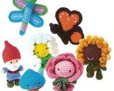 Amigurumi In The Garden Crochet Pattern - Doll Crochet Craft Ebook , ENGLISH Ebook , Amigurumi Crochet EBook/ PDF/Instant Download