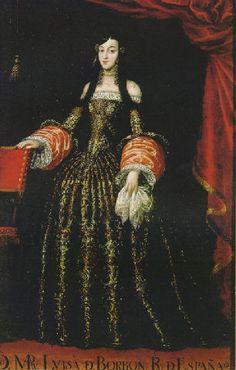 Portrait of Marie Louise of Orléans (1662–1689), Queen consort of Spain - Juan Carreno de Miranda