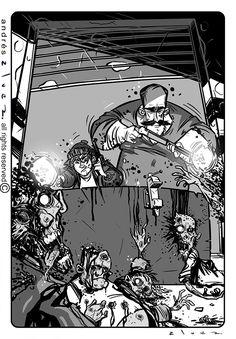 """Más zombis!!! #ilustracion para el libro """"Gardel contra los Zombis"""" de Roberto Garriz, ediciones El Zorzal #twd #zombi #zombie #zombies #twdseason8 #fear #fearthewalkingdead Anime, Art, Zombies, Caricatures, Book, Illustrations, Art Background, Kunst, Cartoon Movies"""