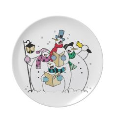 SUZANNE ELIZBETH CHRISTMAS COLLECTION DINNER PLATES