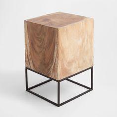 Vyobrazení 1 produktu Stůl dřevěný blok s čtvercovou základnou
