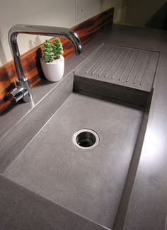 Concrete Countertop Ideas and Examples – Part 1 of 2 Pictures  Love it for the backyard.
