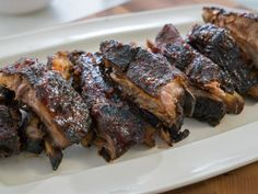 Get Stovetop Smoked Baby Back Ribs with Maple BBQ Sauce Recipe from Food Network