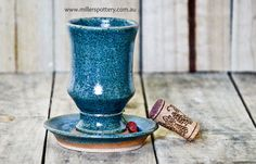 Australian handmade ceramics and Judaica - Kiddush Cup by www.millerspottery.com