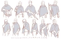I finally managed to acquire a poncho in the style of the ones my characters in my comic wear and these are the first in a series of studies of it I'm making. Ponchos are very unusual and it's...