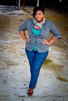 Curvy fashionista - love it with cognac boots too!