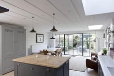 Gray and white London kitchen renovation, Remodelista