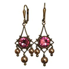 A personal favorite from my Etsy shop https://www.etsy.com/listing/492510358/vintage-crystal-earrings-chandelier