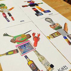 Collage robots. Gloucestershire Resource Centre http://www.grcltd.org/scrapstore/