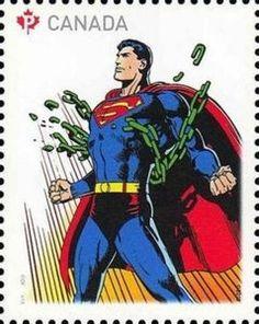 Sello: Superman (Canadá) (75th Anniv. of Superman) Mi:CA 3042,Sn:CA 2677c,Yt:CA 2918