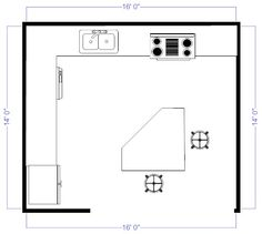 Kitchen Floor Plans And Elevations Kitchen Floor Plans Home Design