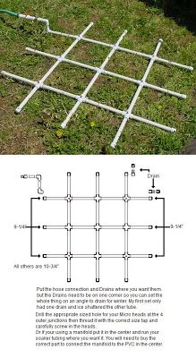 pvc garden watering system