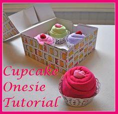 Cupcake Onesie Tutorial... Cuter Alternative To A Diaper Cake.
