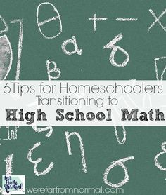 Making the jump from middle school to high school math doesn't have to be scary! These simple ideas will help you and your homeschool student make the transition beautifully! Homeschool Math Curriculum, High School Curriculum, Arithmetic, Child Development, Algebra, Mathematics, School Projects, Middle School, Geometry