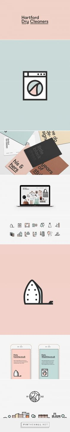 Hartford Dry Cleaners Visual Identity Website on Behance a grouped imag - Fiverr Outsource - Outsource your work on Fiverr and save your time. - Hartford Dry Cleaners Visual Identity Website on Behance a grouped images picture Pin Them All Brand Identity Design, Graphic Design Typography, Corporate Design, Business Branding, Business Card Design, Logo Branding, Web Design, Icon Design, Logos
