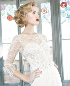 Vintage Vixen | 13 Stunning Short Bridal Hair Styles - Wedding Blog | Ireland's top wedding blog with real weddings, wedding dresses, advice, wedding hair s...