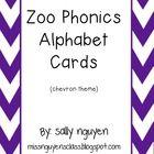 Zoo Phonics Alphabet Cards Chevron School Projects, School Ideas, Zoo Phonics, Teaching The Alphabet, Alphabet Cards, Preschool At Home, September 2014, Word Work, Babysitting