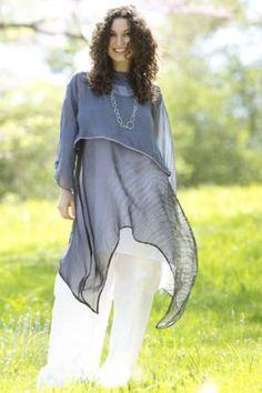 Upcurve Shibori Silk Organza Shift : Blue Fish Clothing