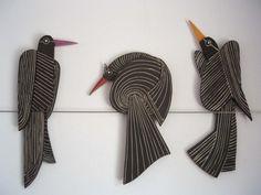 black birds on wire