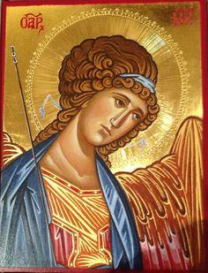Angel by antonio schiavone Religious Icons, Religious Art, Angelo Antonio, Gold Leaf Art, Flamenco Dancers, Byzantine Icons, Archangel Michael, Art Icon, Angel Art