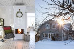 [ ᎦOBERT ᎫULPYNT I DEN VACᏦRA 1920-TALSVILLAN ] Det är en vintervit dag när vi kommer hem till Anna Svedman och Tobias Kellgren i den charmiga stadsdelen Pryssgården i Norrköping. Snön ligger som ett täcke och bäddar in husen på den lilla gatan. De flesta husen är byggda på 1920- och 1930-talen. De karaktäristiska brutna taken är en detalj som de flesta husen har gemensamt här.