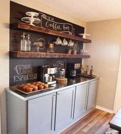 Love this idea for a #rustic coffee bar that you can #DIY #homedecor @istandarddesign