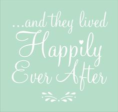 And They Lived Happily Ever After- Wedding Signs STENCILS- 4 Sizes Available - Create Wedding Signs!