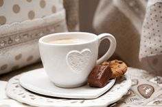 Coffee Time! | Tableware | Romantic | Heart | Lace | Shabby | Kitchen | Textile