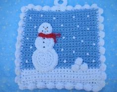 Got Snowballs Potholder Crochet PATTERN - INSTANT DOWNLOAD