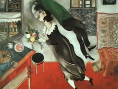 Marc Chagall, Il compleanno, 1915, olio su cartone. The Museum of Modern Art, New York. Acquired through the Lillie P. Bliss Bequest, 1949 © 2014. Digital image, The Museum of Modern Art, New York/Scala, Firenze © Chagall ® by SIAE 2014